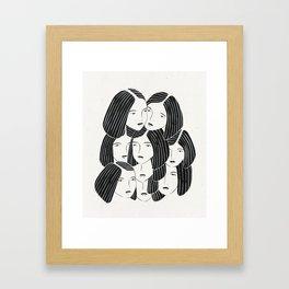 Multiple Girls Framed Art Print