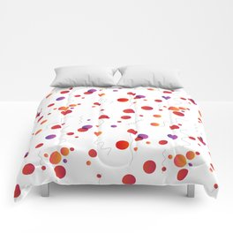 Abstract seamless pattern with circles and lines Comforters