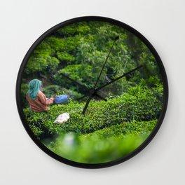 Tea gardens - Photography Art Wall Clock