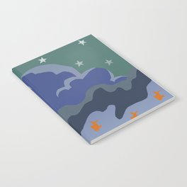 Stars and Fish Notebook