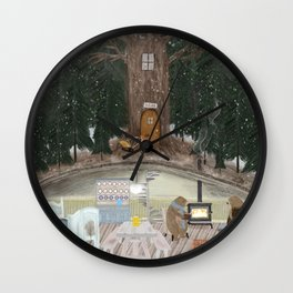house of bear Wall Clock