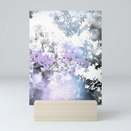 Watercolor Floral Lavender Teal Gray Mini Art Print