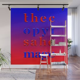 The Copy is a Homage – Red Blue Wall Mural