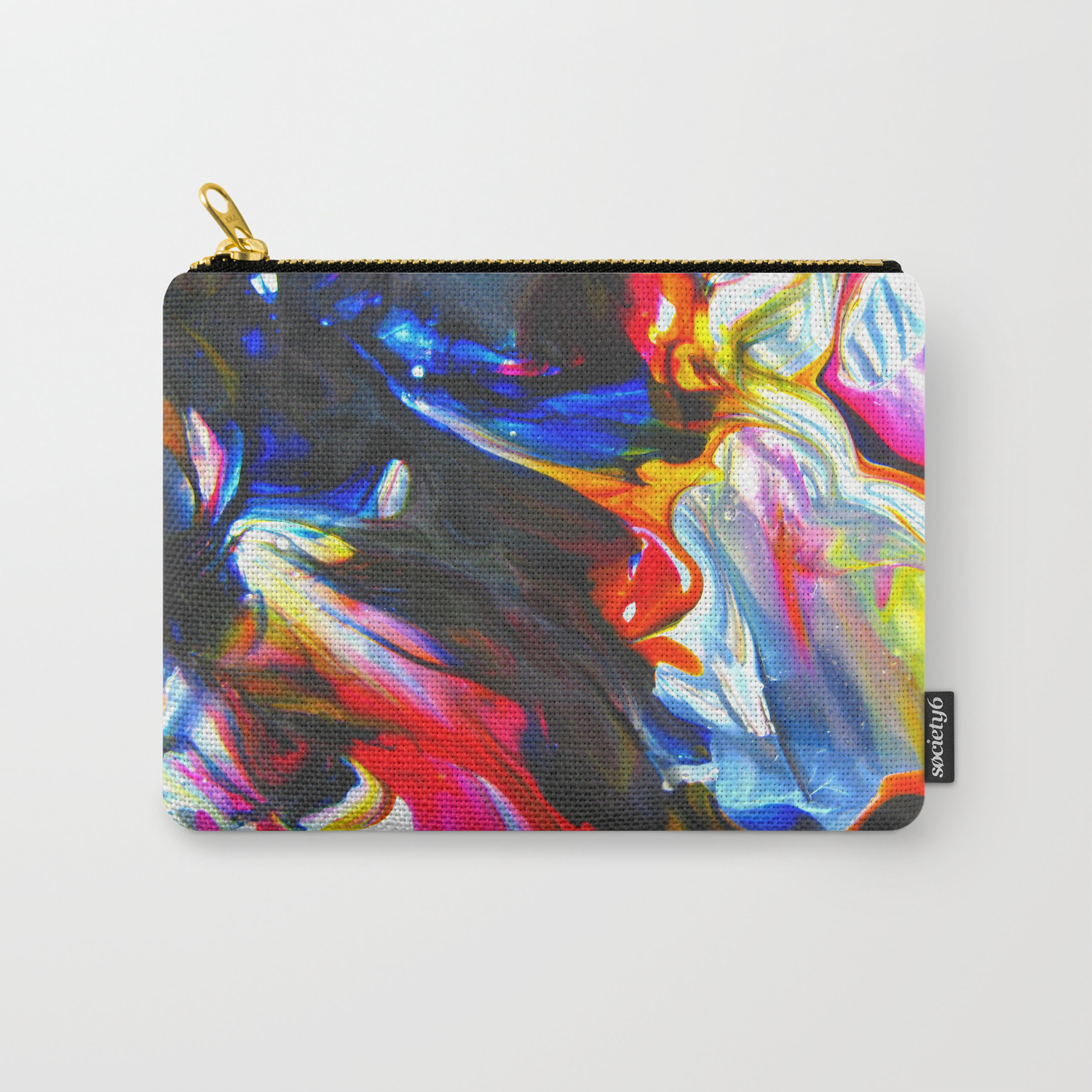 Cellophane Flowers Carry All Pouch