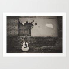 alley guitar Art Print
