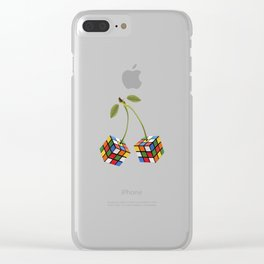 Cherry rubik Clear iPhone Case