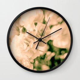 Romance and Ruffles beautiful flowers Wall Clock