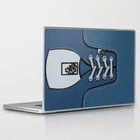 vans Laptop & iPad Skins featuring blue Vans shoes iPhone 4 4s 5 5s 5c, ipod, ipad, pillow case and tshirt by Three Second