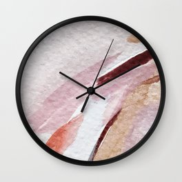 Away [2]: an abstract mixed media piece in pinks and reds Wall Clock