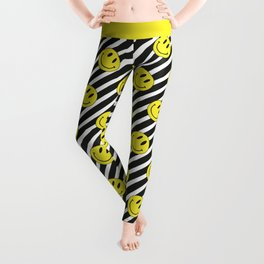 Smiley and Stripes Leggings