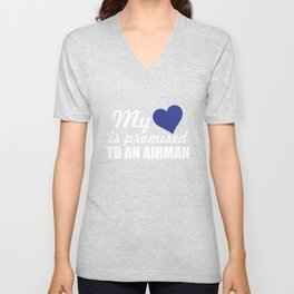 My Heart is Promised to a Airman Graphic Military Unisex V-Neck