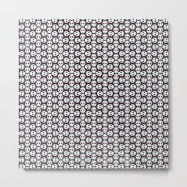 Pixelated skulls pattern Metal Print