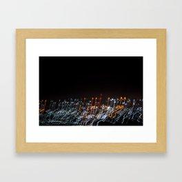 Kigali Night Lights Framed Art Print