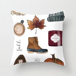Fall Feelings Throw Pillow
