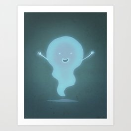Happy Ghost Art Print