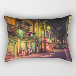 Deserted Japan Street/ Anthony Presley Photo Print Rectangular Pillow