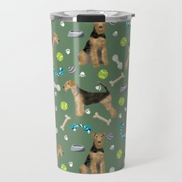 Airedale Terrier gifts airedale terrier dog airedale terrier pouch, pillow, home decor, art, dog Travel Mug