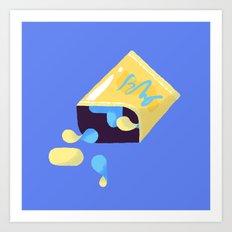 Spilled Chips Art Print