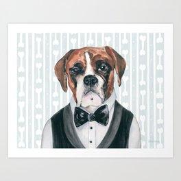 Bobby Boxer Art Print