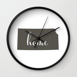Kansas is Home Wall Clock