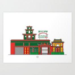 Restaurant El Palmar Art Print