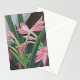 Porcelain bowl with lilies Stationery Cards