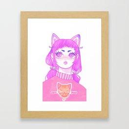Sour Puss Framed Art Print