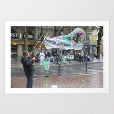 The Bubble Master Art Print