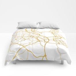 KIEV UKRAINE CITY STREET MAP ART Comforters