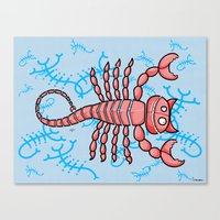 scorpio Canvas Prints featuring Scorpio by Giuseppe Lentini