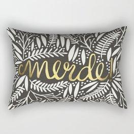 Pardon My French – Gold on Black Rectangular Pillow