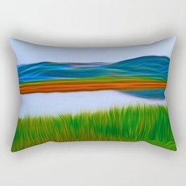 Over the Lake Rectangular Pillow