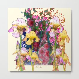Decorative Yellow & Pink Spring Metal Print