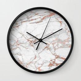 marble pink Wall Clock