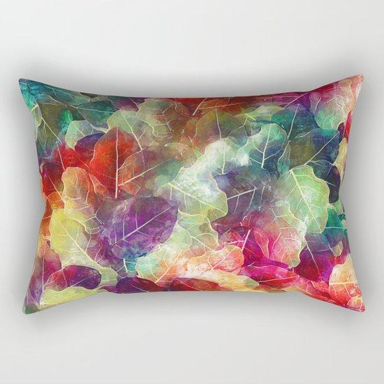 Multicolor Leaves Rectangular Pillow