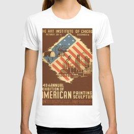Vintage poster - American Paintings & Sculpture T-shirt