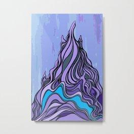 'Twisted Peak' - Vector Version Metal Print