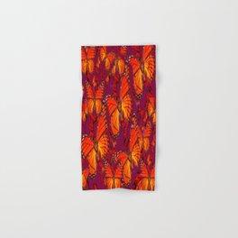Decorative Orange Monarch Butterflies Patterns Hand & Bath Towel