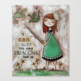 Dragonslayer - by Diane Duda Canvas Print