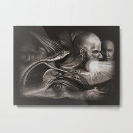 Puking Frustration Metal Print