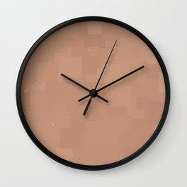 Cafe au Lait Square Pixel Color Accent Wall Clock