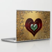 hearts Laptop & iPad Skins featuring Hearts by nicky2342