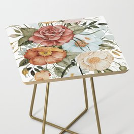 Roses and Poppies Side Table