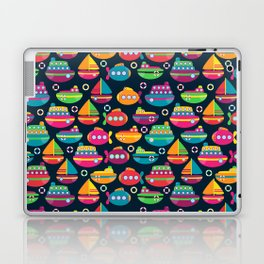 Cute and Colorful Boats and Submarines Laptop & iPad Skin