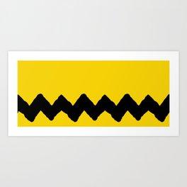 Charlie Brown Stripes Art Print
