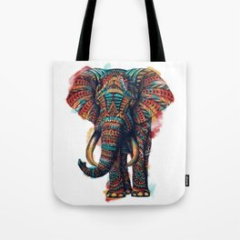 Ornate Elephant (Watercolor) Tote Bag