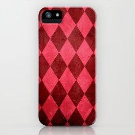 Ruby Harlequin Grunge iPhone Case