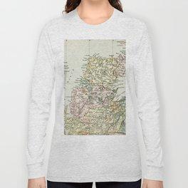 Scotland Vintage Map Long Sleeve T-shirt