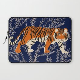 Bengal Tiger and Vines - Blue Laptop Sleeve