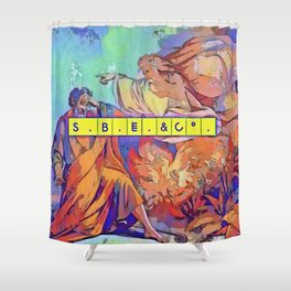 The only evil is ignorance bluvid Shower Curtain